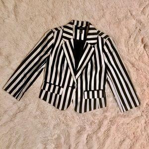 Forever 21 Black- White Striped Blazer